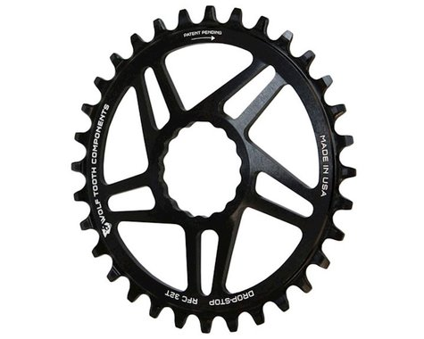 Wolf Tooth Components Drop-Stop Race Face Cinch Chainring (Black) (6mm Offset) (36T)