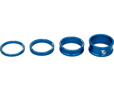 """Wolf Tooth Components 1-1/8"""" Headset Spacer Kit (Blue) (3, 5, 10, 15mm)"""