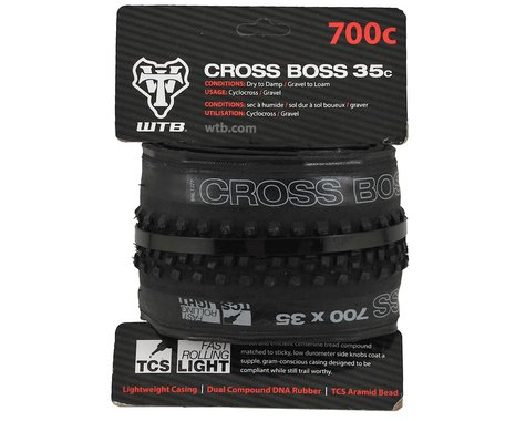 WTB Cross Boss TCS Tubeless Tire (Black) (35mm) (700c / 622 ISO)
