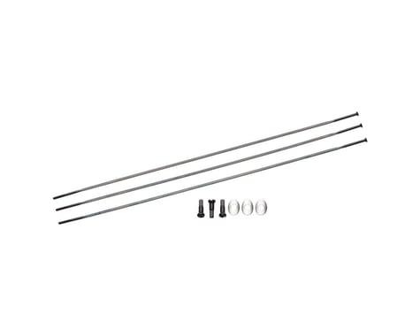 Zipp Sapim Straight Pull Spokes & Nipples (Black) (CX-Ray) (258mm)