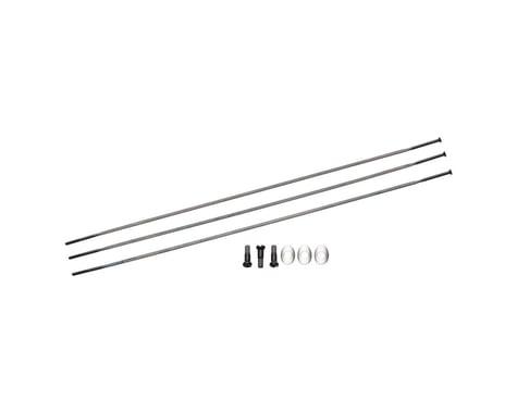 Zipp Sapim Straight Pull Spokes & Nipples (Black) (CX-Ray) (262mm)